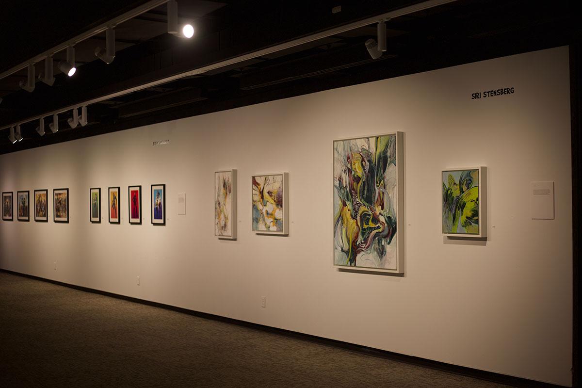 Stensberg+exhibited+eight+oil+paintings+for+her+senior+exhibition.+