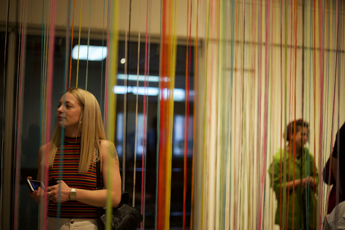 Andrea+Fischer+presented+her+work+featuring+yarn+and+fur.