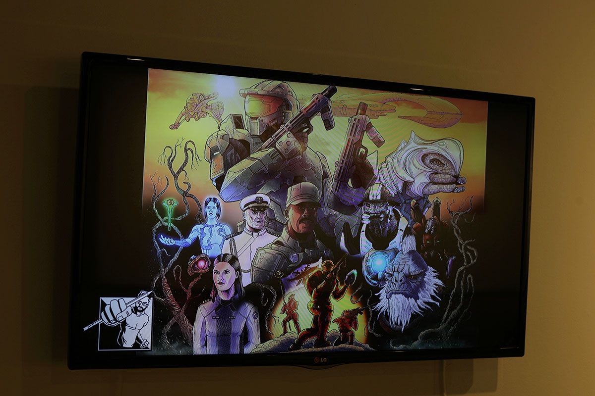 Borchert+presented+a+time+lapse+of+a+piece+he+illustrated+based+on+the+video+game+%E2%80%9CHalo.%E2%80%9D