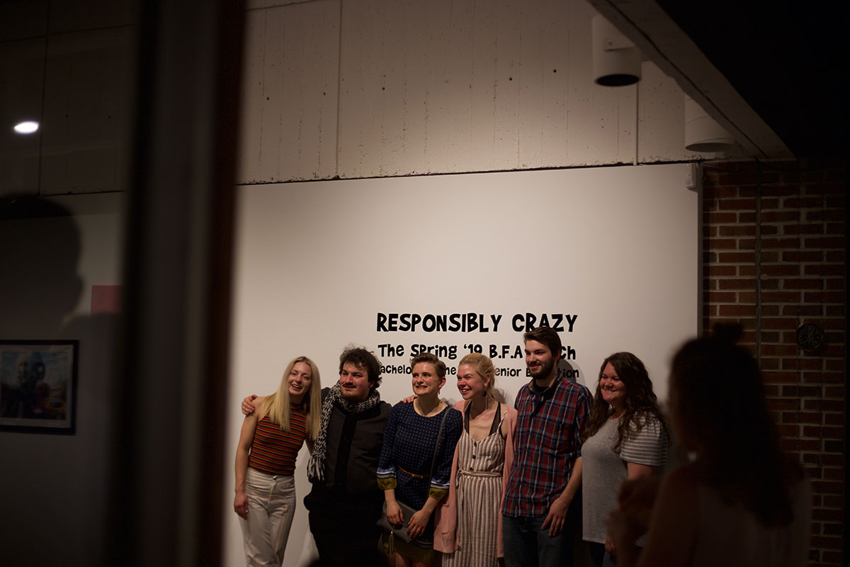 Just+a+bunch+of+people+being+%22responsibly+crazy%22+in+front+of+the+art+director+as+the+reception+comes+to+a+close.+%28Left+to+right%29+Andrea+Fischer%2C+Matthew+Bergs%2C+Sire+Stensberg%2C+Heidi+Johnson%2C+Jeremy+Borchert+and+gallery+director+Amanda+Bulger.+