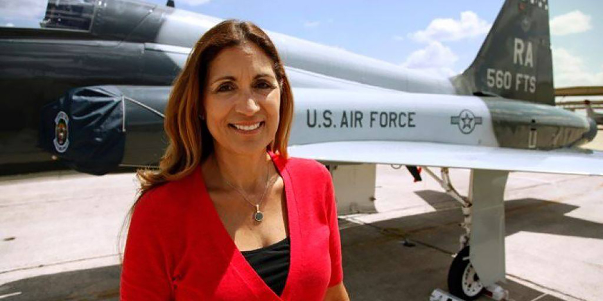 Olga Custodio was the first Latina woman to serve as a fighter pilot and will soon be a Forum speaker.
