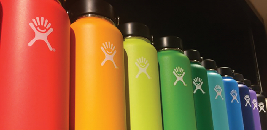 Each Hydroflask water bottle ranges from 20 to 70 dollars depending on the size or style.