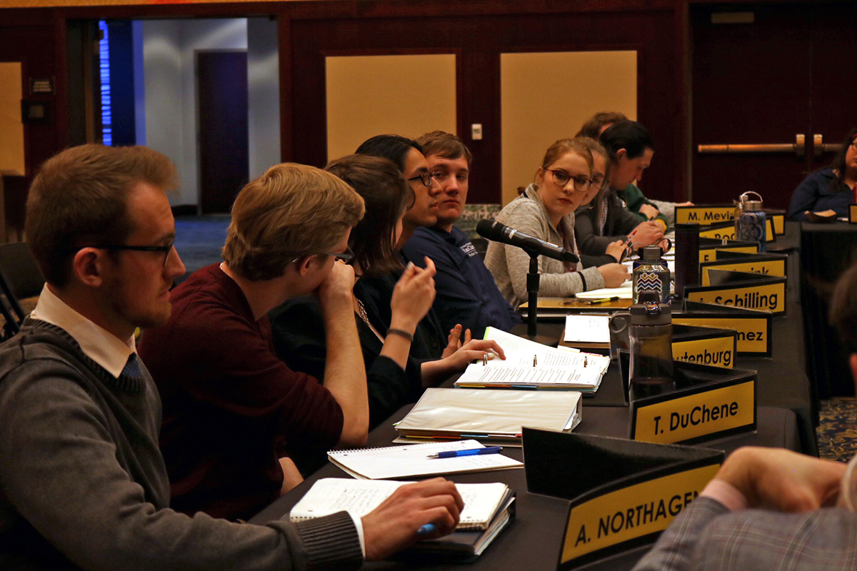 From the archives: Student Senate last spring