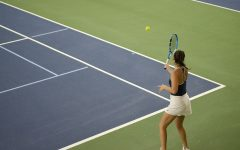 Women's tennis team bounce back with a victory