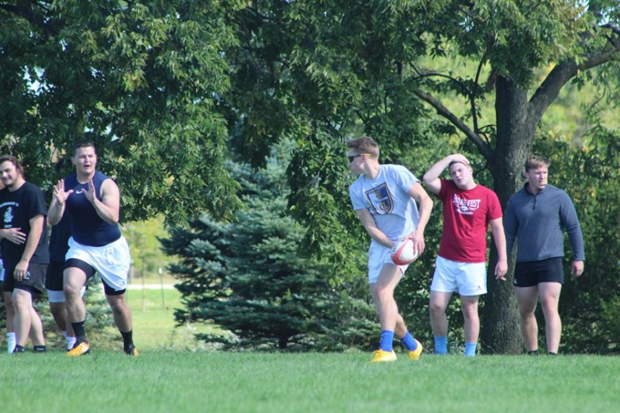 UW-Eau Claire rugby team played in their first scrimmage this past Saturday Sept. 29.