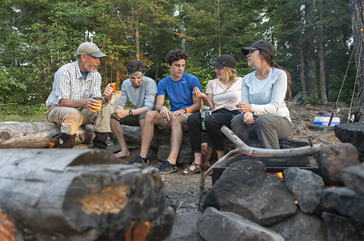 Todd Wellnitz took four students up to the Boundary Waters with him for the microplastics research.