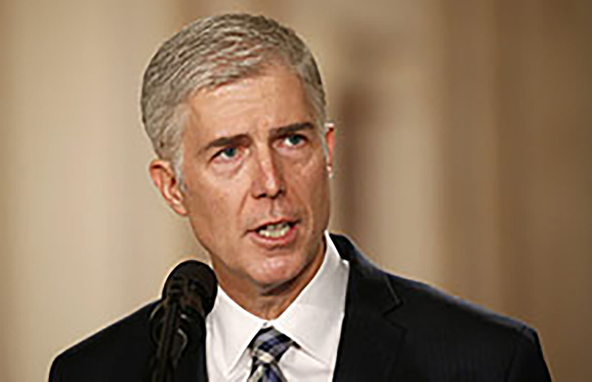 Neil Gorsuch speaks after U.S. President Donald Trump nominated him to be The three cases considered have two gay men plaintiffs and a trans woman plaintiff. Associate Justice Neil Gorsuch seems to have the final say in these cases