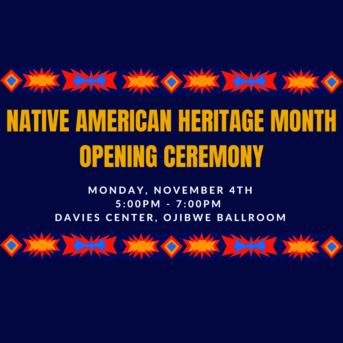 Native American Heritage Month kicks off Nov. 4.