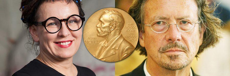 2018 and 2019 winners of the Nobel Prize for Literature, Olga Tokarczuk and Peter Handke.