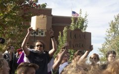 Students gather for pride in response to protest