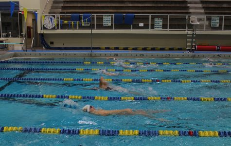 The swim and dive team are practicing for their next meet against Luther College on Oct. 26.