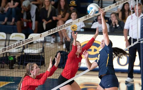 Blugold volleyball takes down Falcons