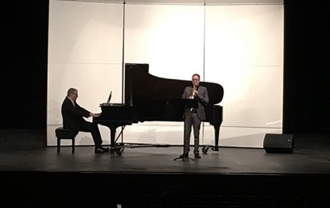 "The Spectator   Nicholas Phillips, a professor of music, and Alastair Wright, a lecturer of music perform the piece ""Chinese Ancient Dances."""