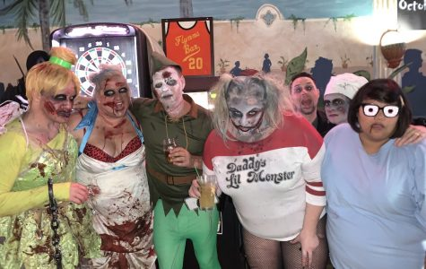 The Zombie Eau-pocalypse featured seven bars downtown on Saturday, October 19. Dozens of Eau Claire locals donned bloodstained clothes and milky-green faces to move from location to location.