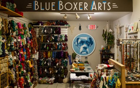 Blue Boxer Arts held their Grand Re-Opening Celebration through an all day event on Nov. 2 at Tangled Up in Hue, their new location.