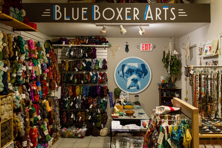 Blue+Boxer+Arts+held+their+Grand+Re-Opening+Celebration+through+an+all+day+event+on+Nov.+2+at+Tangled+Up+in+Hue%2C+their+new+location.+