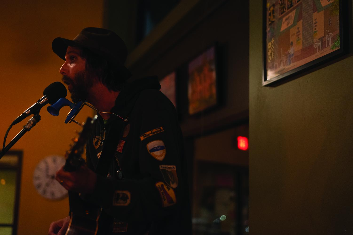 D.B. Rouse, a UW-Eau Claire alumna, plays at the Acoustic cafe Nov. 8. Rouse said he finds himself playing at the Acoustic Cafe at least once a year.