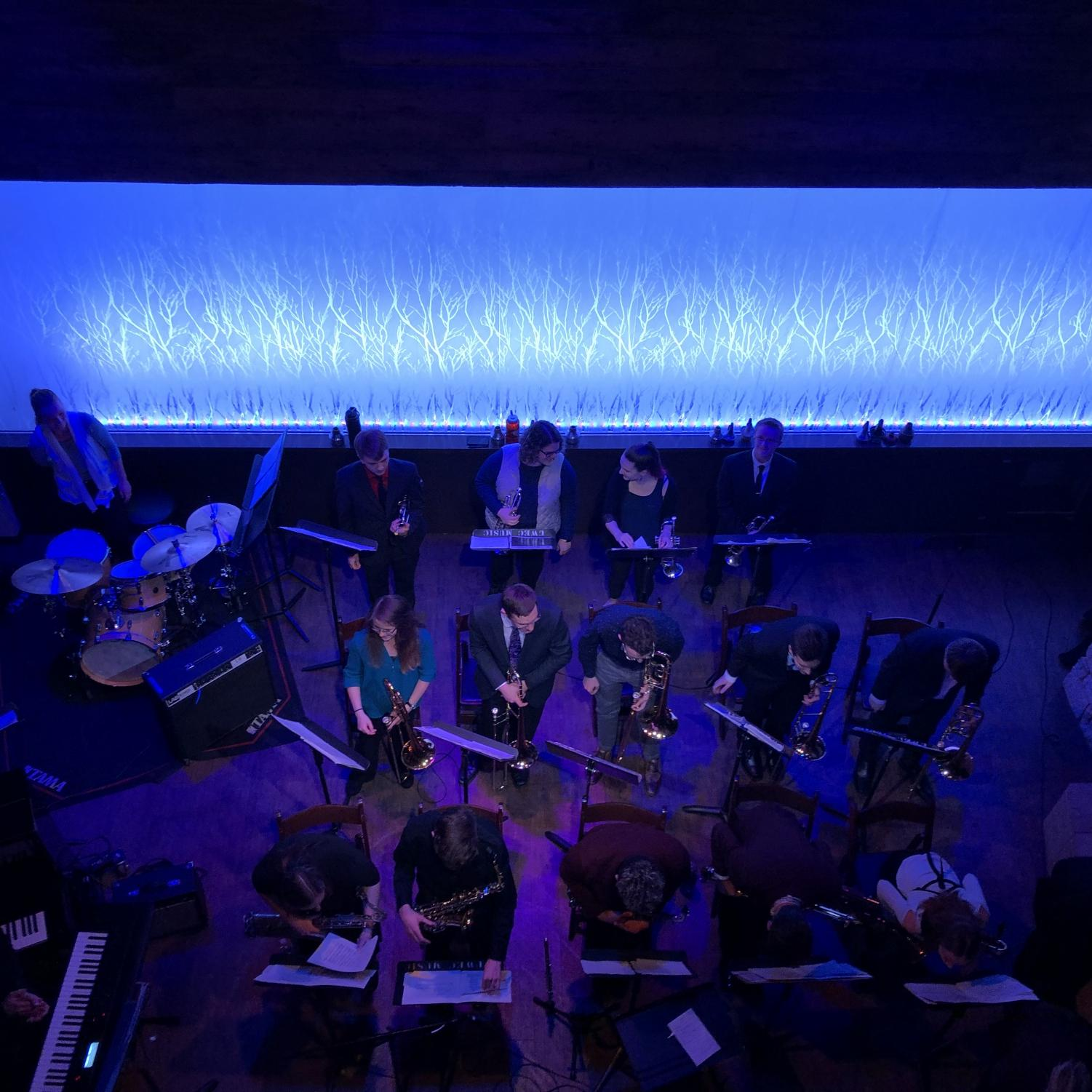 Jazz Ensembles III and IV performed on Nov. 19 at the Cabin .
