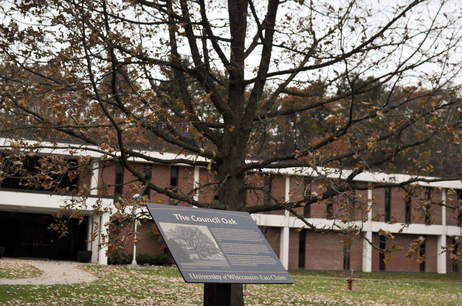 The Council Oak's standing symbolizes the sacred land that UW-Eau Claire is placed on.