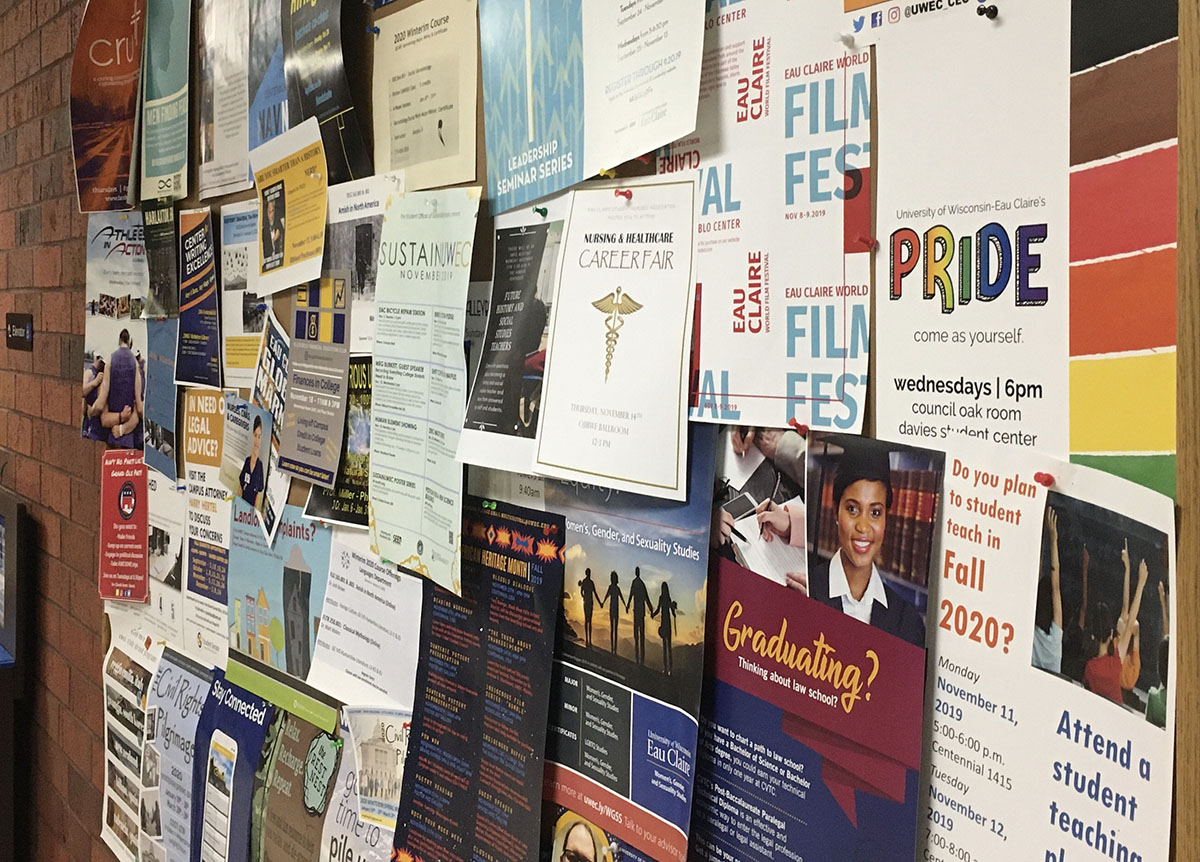 Peoples' opinions can be seen around campus on things like bulletin boards and even right here in the op/ed section.