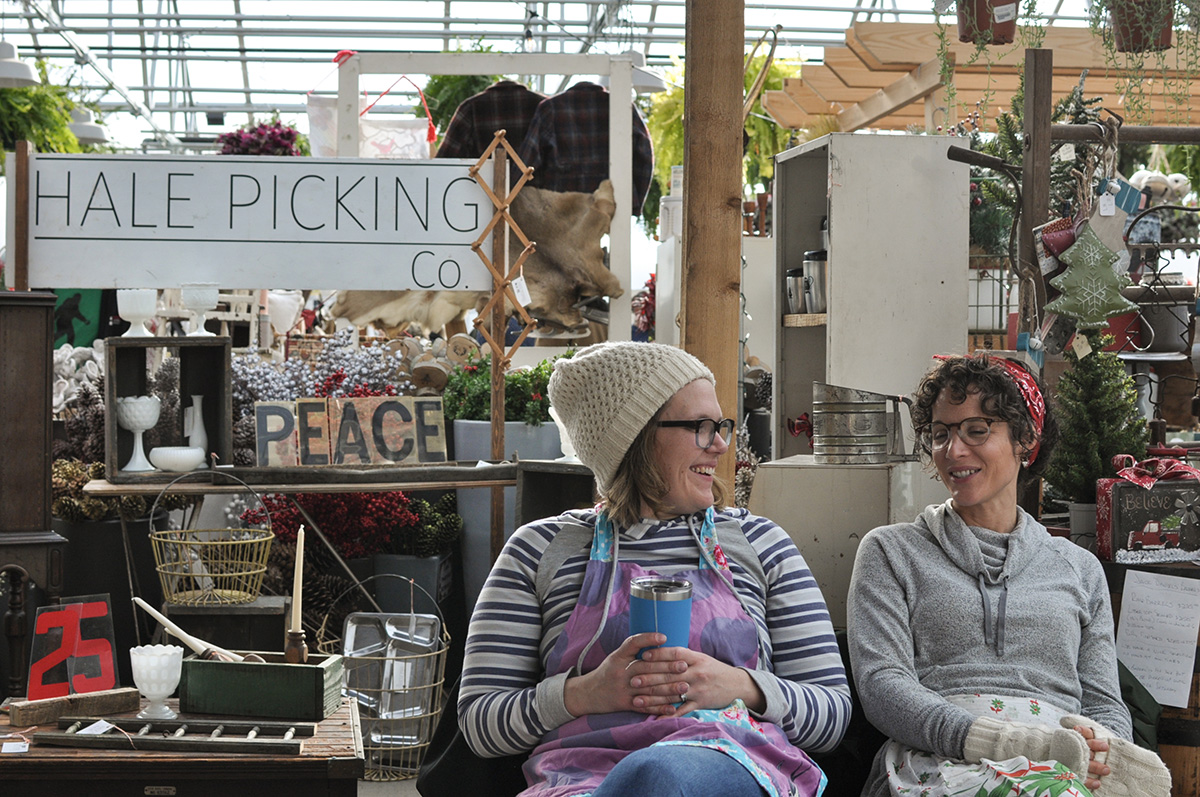 Vendors and customers filled The Down to Earth Garden Center to celebrate the beginning of the holiday season.