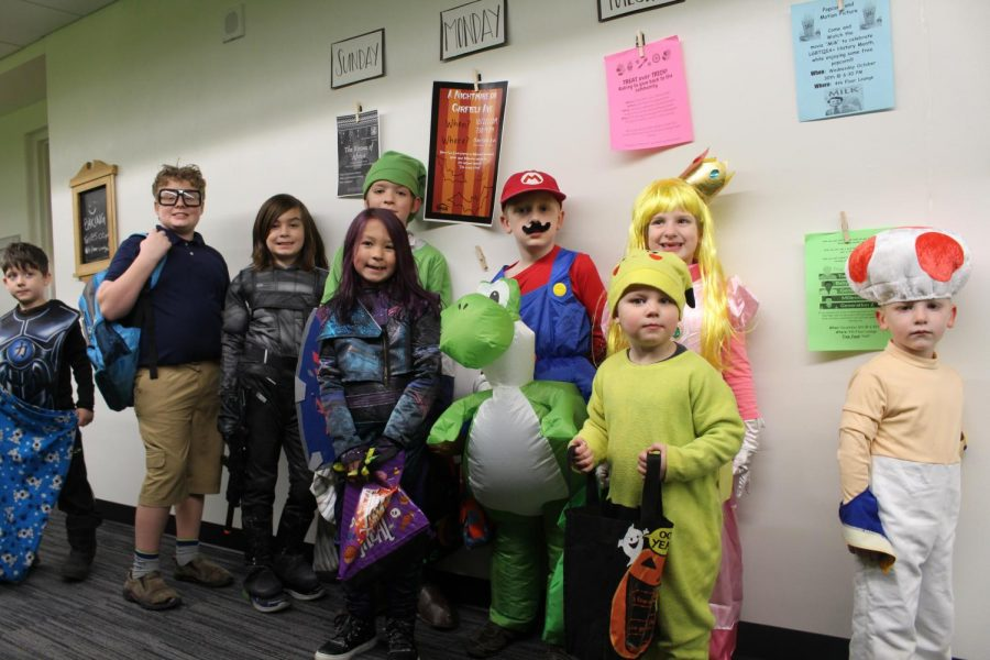 Trick-or-treaters visit UWEC residence halls