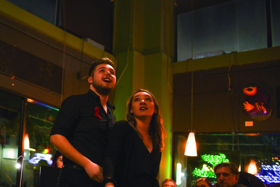 Eauxpera is an event hosted by UW - Eau Claire Opera and Musical Theatre Workshop at 7:00 p.m. on Friday, Dec. 6, at the Acoustic Cafe.