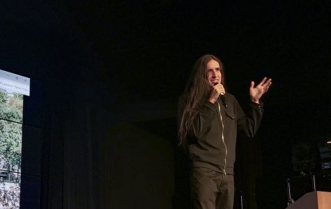 Xiuhtezcatl Martinez spoke on the UW-Eau Claire campus on Dec. 10 about climate activism.