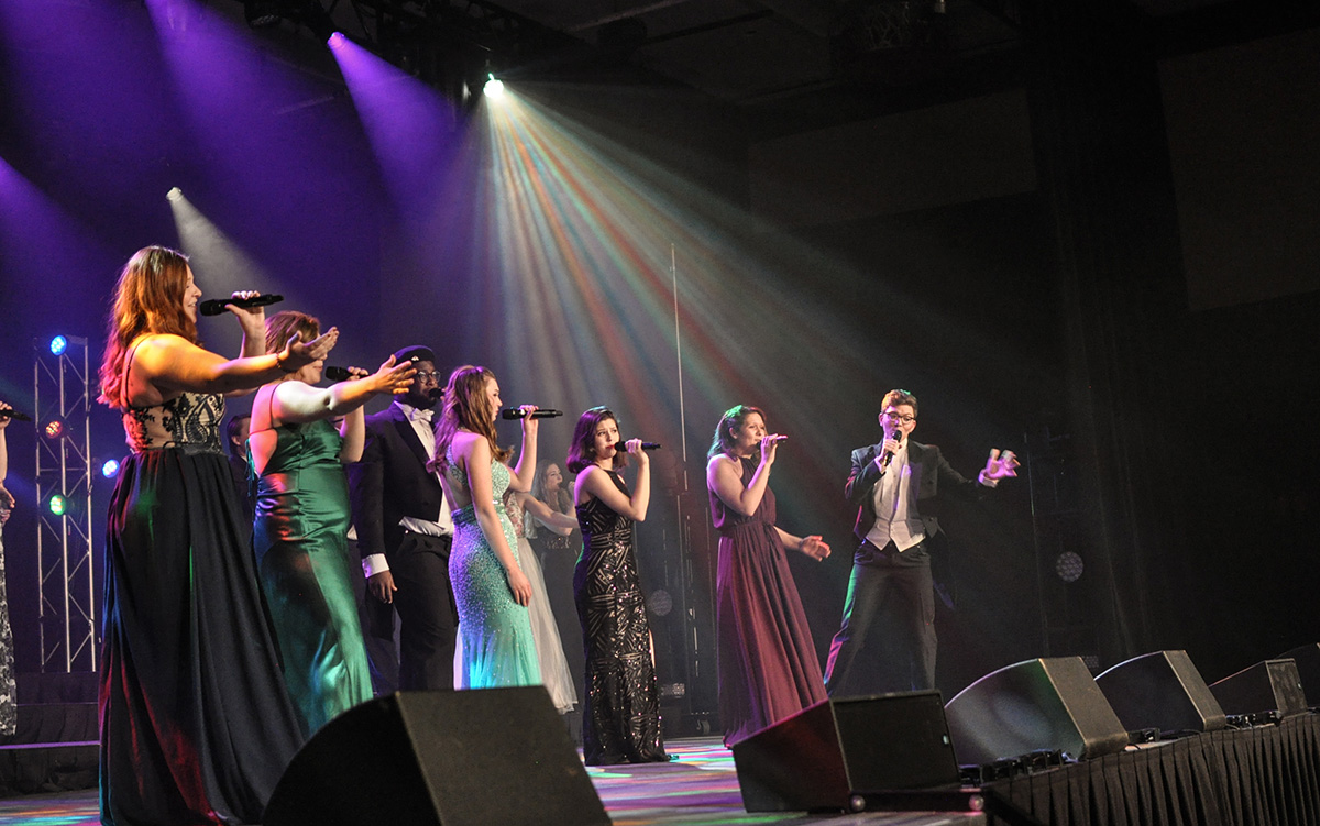 "Executive Director Frank Watkins says everything from the script and choreography to the tech work and beyond is student-produced. ""Cabaret: 'Game Over'"" will show again next weekend."