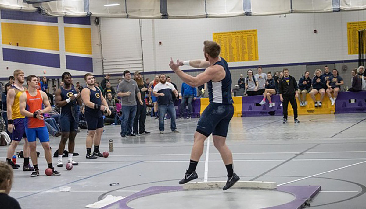 """Chip Schneider, the head coach of men's indoor and outdoor track and field, said the throwers """"highlighted the men's performance"""" at Saturday's track and field meet."""