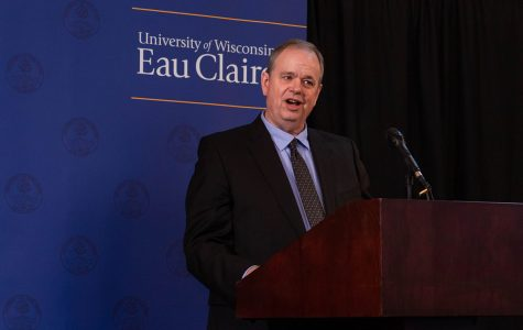Chancellor James Schmidt held a press conference in the Alumni room of the Davies Student Center on Monday, Feb. 24.