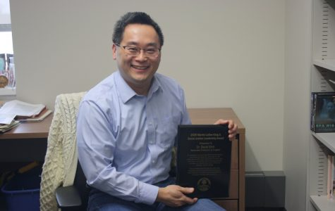 Dr. David Shih, an English professor, and member of the English faculty since 1999, received the 2020 MLK Social Justice Leadership award on February 5, during the University's annual Martin Luther King Jr. Celebration.