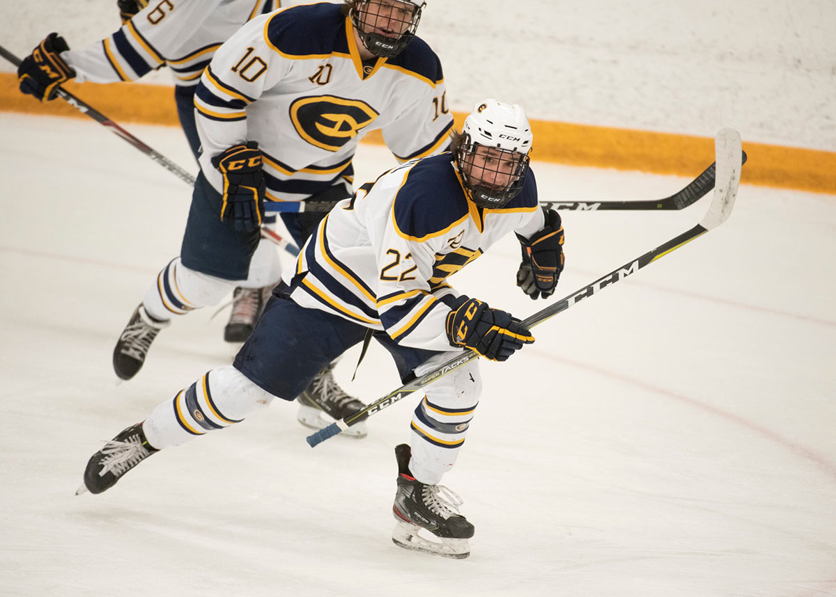The Blugolds are currently ranked No. 1 in WIAC and No. 2 in the nation for NCAA division three men's hockey.