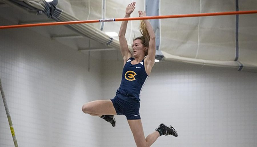 Women's track and field team placed in the top three for three competitions.