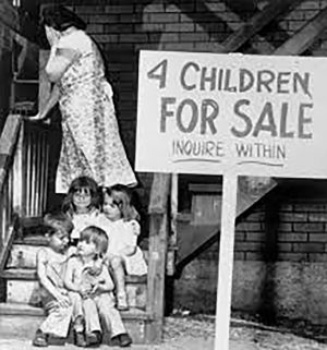 The image had first appeared in the Vidette-Messenger in 1948 with brief caption claiming to exhibit the desperation of the Chalifoux family.