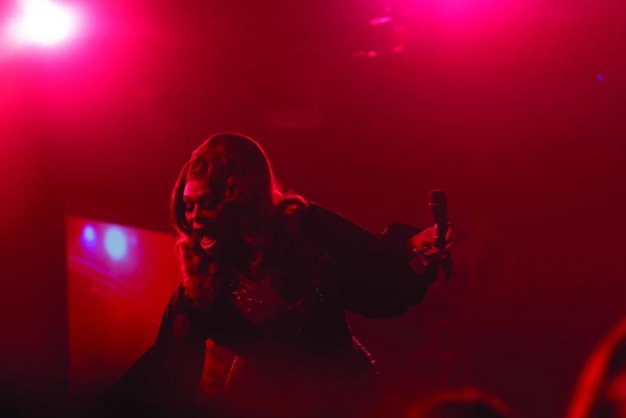"""Fire Ball is held every year at UW-Eau Claire. Fire Ball is a drag show headlined by drag queens from the show """"RuPaul's Drag Race."""" This year's host was Peppermint and Nina West. Shown is Peppermint during her performance on Feb. 28."""