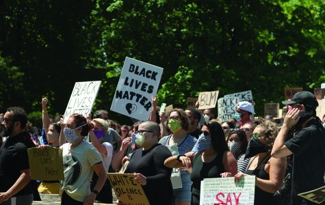 The people of Eau Claire organized a protest on Sunday, May 31 in honor of black lives being taken by police brutality. The peaceful protest started at 12 p.m. at Phoenix Park and ended at Owen Park.