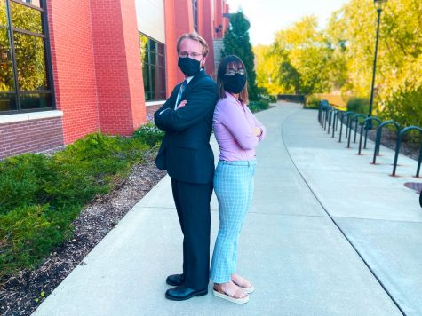 """Joel Meier (left) and Jackie Buttafuoco (right). """"The general mission of Jackie and I's movement is a grass-roots organization to take the power away from the establishment and away from the bureaucracy that has been created on campus the past few years,"""" Meier said."""