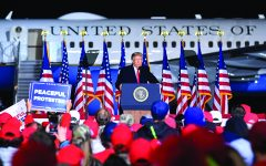 President Trump held a rally in Mosinee, Wisconsin on September 17 to a large gathering of supporters.