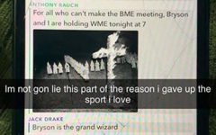 This image of a Snapchat group chat depicts a racist interaction between UW-Eau Claire football players that was released in November 2019.