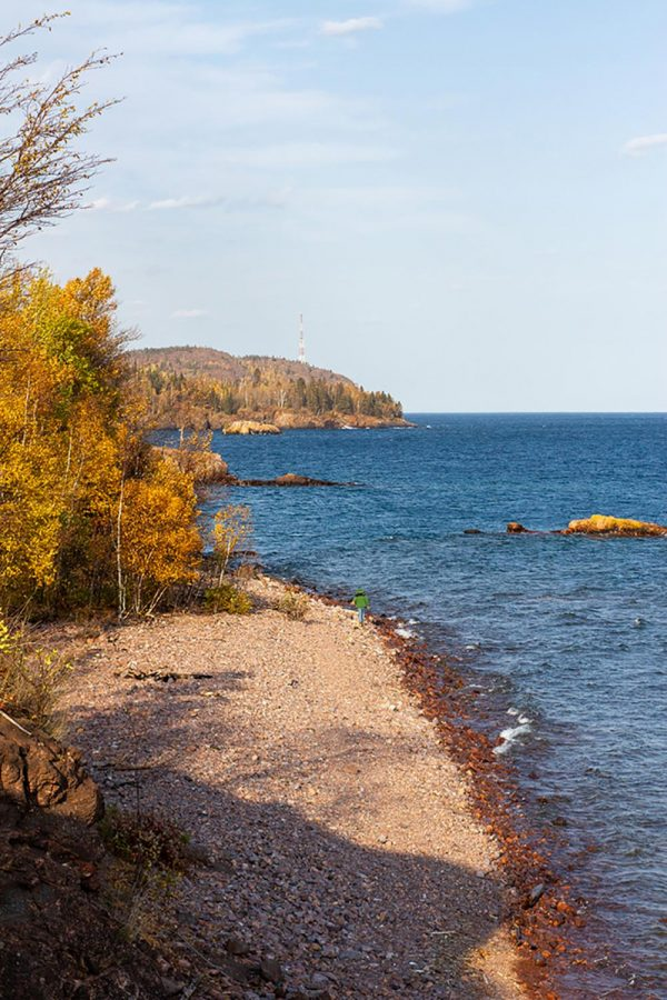 This shoreline of Lake Superior is near Silver Bay, MN.