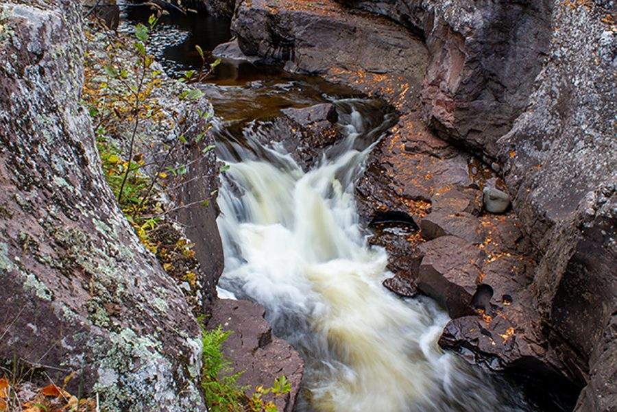 There are over 200 waterfalls leading into the waters of Lake Superior.