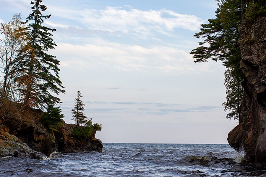 Where water meets land — Temperance River State Park.