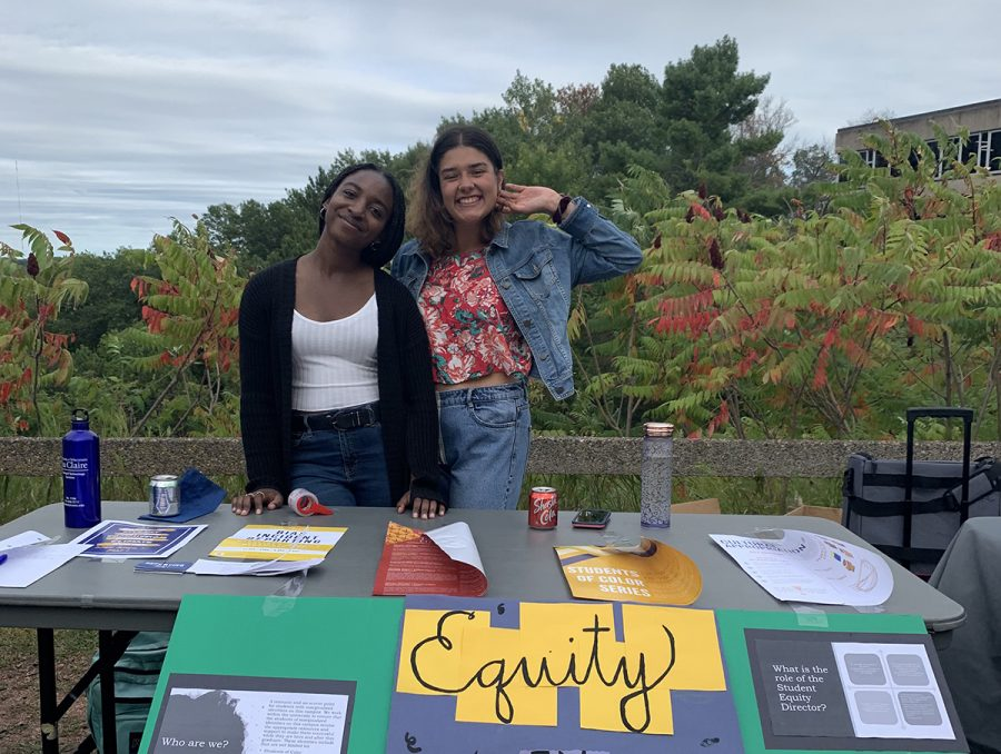 Co-directors of the Student Senate's Equity in Student Matters commission Iman Dikko, left, and Stephanie Hoeksema, right, said they believe the new EDI training programs are an important addition to UW-Eau Claire.