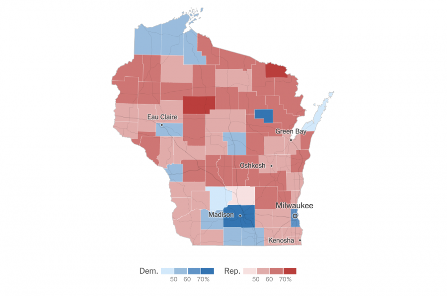 Eau Claire is one of 12 counties in the state of Wisconsin which won the Democratic majority in the 2020 presidential election. The election was held on Nov. 3 and Wisconsin's results were declared Nov. 4.