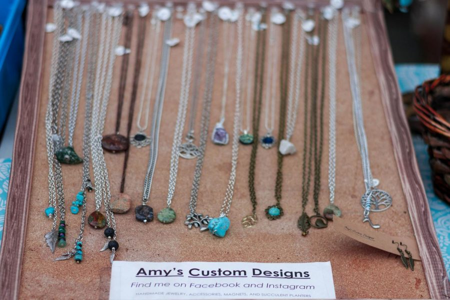 Amy's Custom Designs sold handcrafted jewelry during the event.