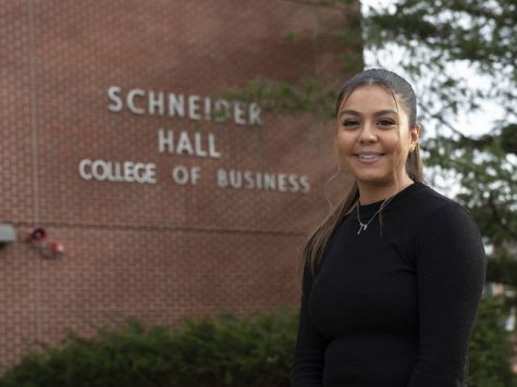 "Alejandra Serna, said she has experienced a lack of representation first-hand at UW-Eau Claire. Her research project, ""A Walk in Her Shoes: How Women of Color Navigate a Predominantly White Institution,"" aims to raise awareness of student voices on campus."