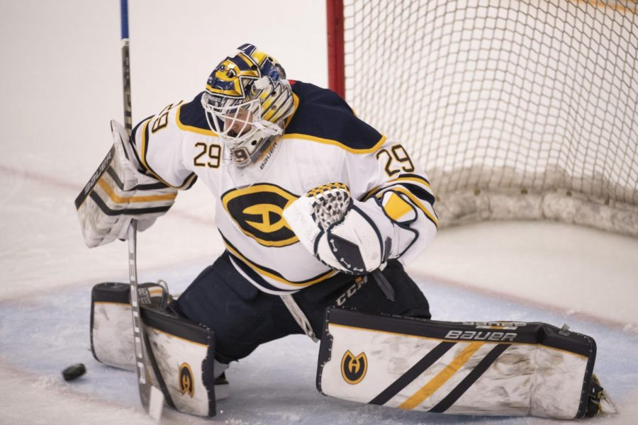 Nathan+Dingmann%2C+a+forward%2C+predicted+last+Wednesday%E2%80%99s+win+over+UW-Superior.