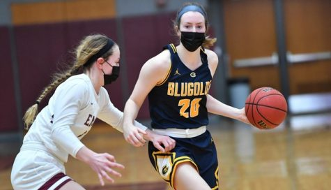 "5'10"" point guard Jessie Ruden competes for the Blugolds as a second-year player"