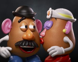 Former Mr. and Mrs. Potato Head in Toy Story.